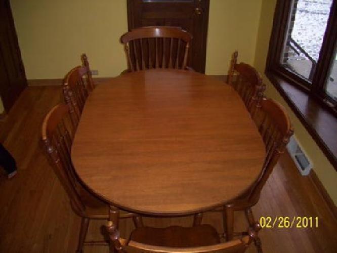 Tell City Furniture Hard Rock Maple Dining Room Set