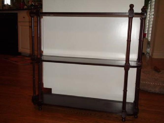 65 Bombay Company Display Plate Curio 3 Shelves For Sale