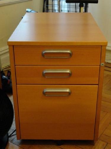 $65 Galant (Ikea) Wooden 3 Drawer Desk Filing Cabinet