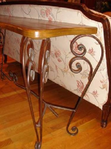 65 wrought iron sofa console table for sale in sherman for 65 sofa table