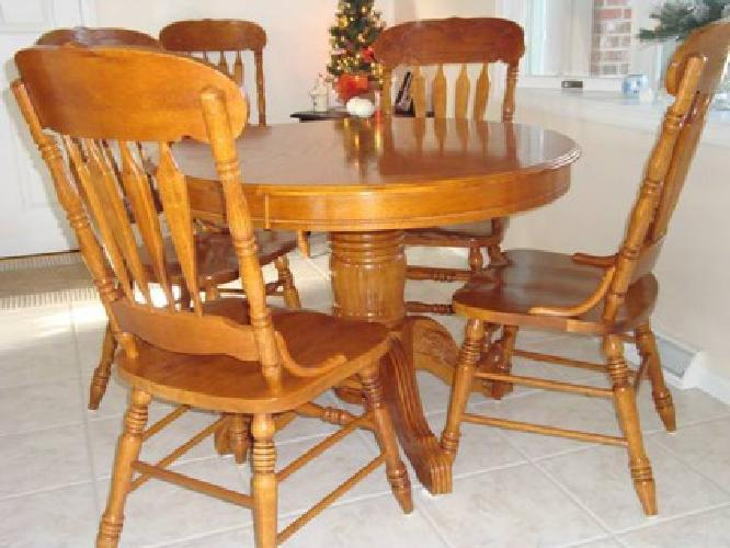 699 solid oak dining room table 6 chairs for sale in lafayette