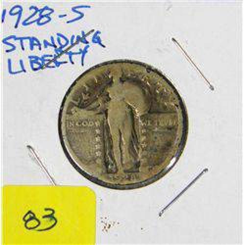$6 1928-S Standing Liberty Quarter