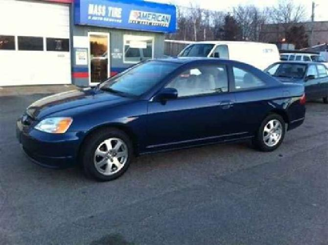 2003 honda civic coupe blue