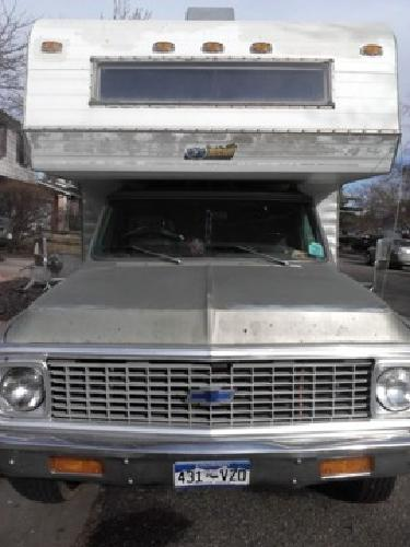 $6,500 1972 Chevy C30 Cheyenne w/ Mitchell Custom Camper on Chassis for sale in Denver, Colorado ...