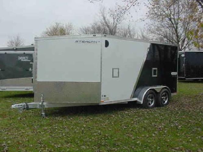 $6,531 2012 All Aluminum 7x19 Inline 2 place Snowmobile hauler