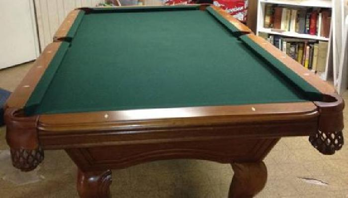 $700 Beautiful Oak Regulation Size Pool Table For Sale In. Frigidaire Drawer. High Chair Table. Office Desk Lamps Target. Oxford Executive Desk. Plastic Desk Chair Mat. Table & Chair Rentals. Footstool For Desk. Table Plans