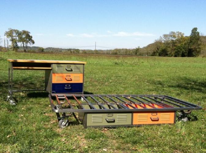 700 Pottery Barn Twin Locker Beds And Locker Desk For