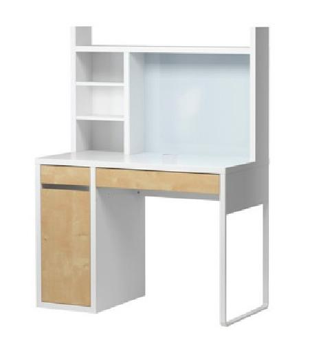 70 ikea birch white desk with shelves for sale in for Ikea garland tx