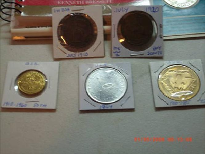 $70 Lot of 5 Boy Scouts of America Tokens/Comemoritives & More