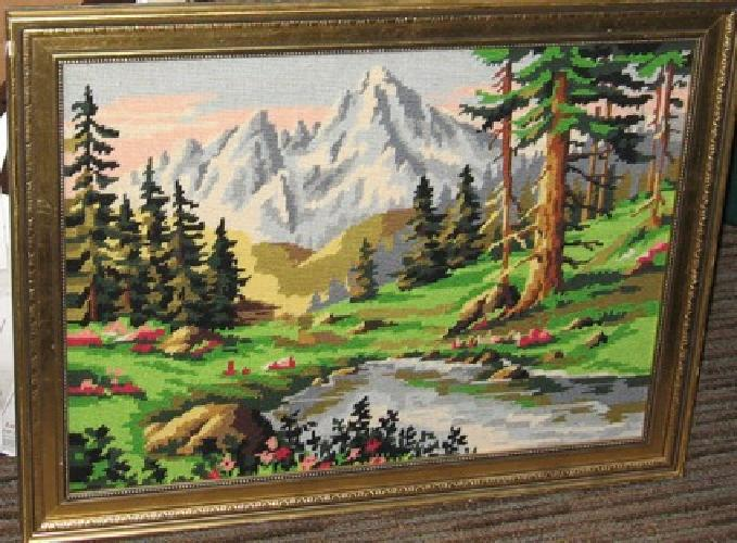 $70 OBO Needlepoint pictures, I have many different amazing needlepoint pictures