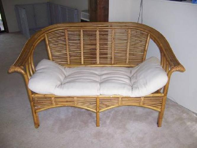70 pier 1 imports wicker settee and wicker table with