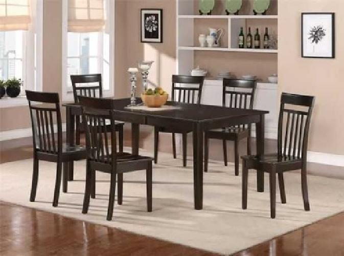 $749 7PC DINING SET TABLE WITH 6 CHAIRS (raleigh)