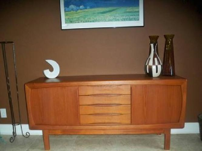 750 mid century modern teak sideboard credenza for sale for Mid century furniture florida