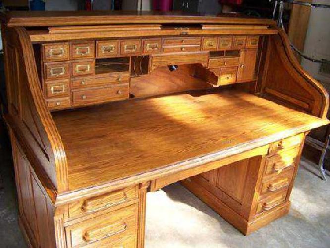 750 national solid oak rolltop desk used for sale in tulsa oklahoma classified. Black Bedroom Furniture Sets. Home Design Ideas