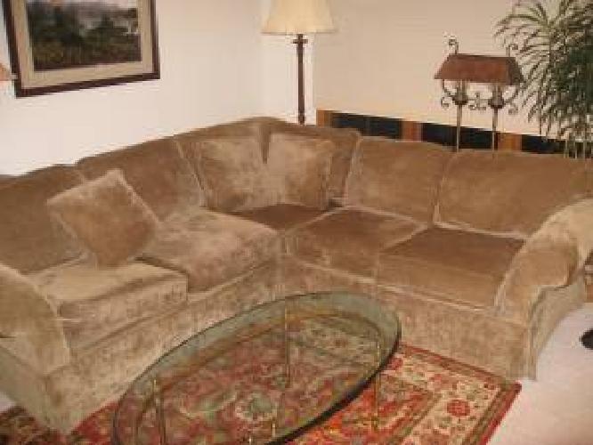 "750SOFA! Bauhaus ""L"" Sofa! Dark Sage Green in Mundelein, Illinois For"
