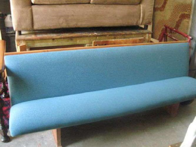 75 1 Solid Wood Church Pew Blue Cushion Seat All Wood 75in Long For Sale In Jacksonville