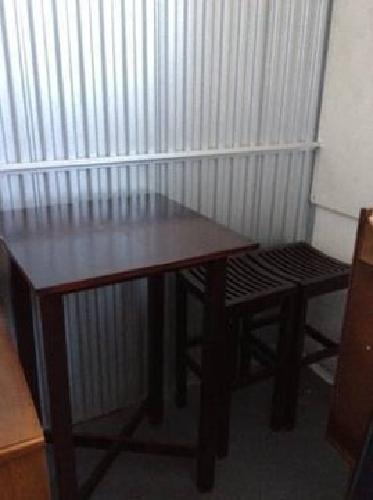 $75 3-Piece Solid Wood Pub Table Set
