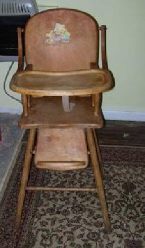 $75 Antique Wood Baby High Chair for sale in Arvonia