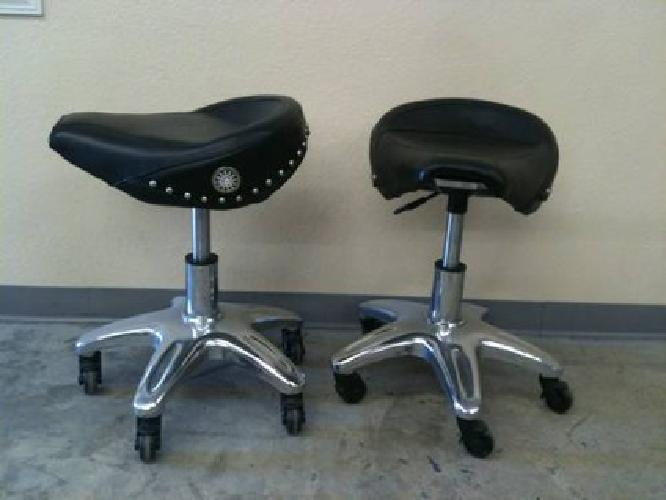 75 Biker Style Pneumatic Roller Seat Stools For Sale In