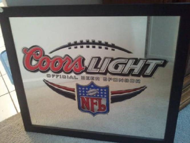 75 coors light nfl bar mirror sign for sale in palatine illinois 75 coors light nfl bar mirror sign aloadofball Image collections