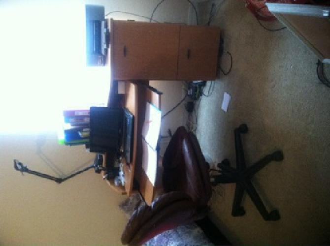 $75 desk and desk chair
