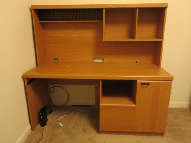 $75 Durable desk and shelves for sale