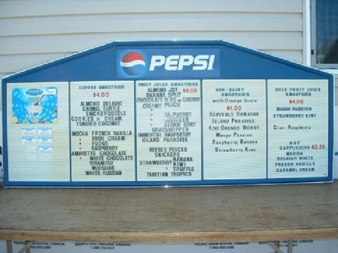 $75 Pepsi Sign