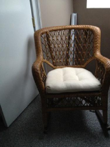 75 Pier 1 wicker/rattan rocking chair for sale in Waltham ...