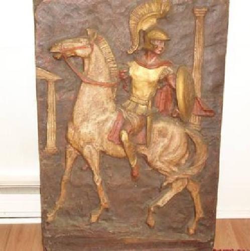$75 Segura Sculpture Wall Art Knight on Horseback