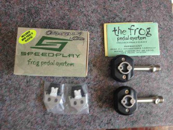 $75 Speedplay Frog Pedals with 60mm Stainless Steel Spindles NEW w/Cleats