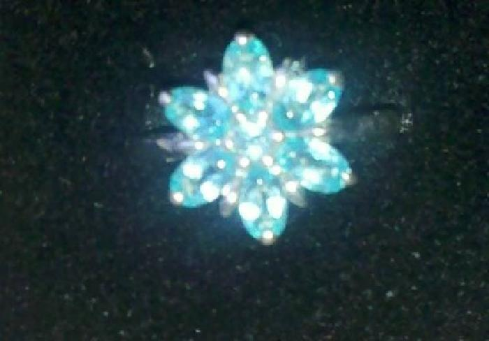 $75 sterling silver apatite ring size 6