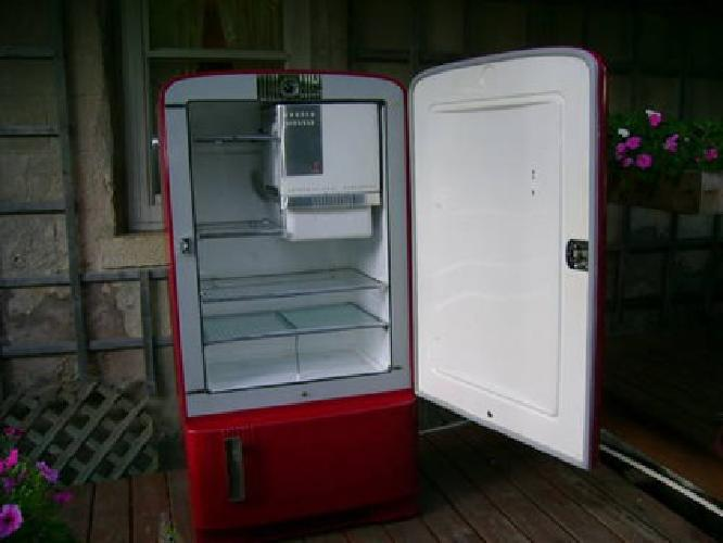 $795 Restored 1948 International Harvester Refrigerator for