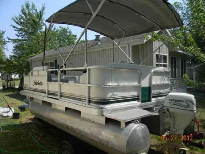 $7,000 2011 16ft Sweetwater Pontoon and new trailer