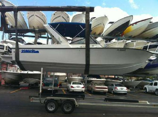 $7,000 26 Foot Oceanic, 2 Johnson 200 hp ONE OWNER clean