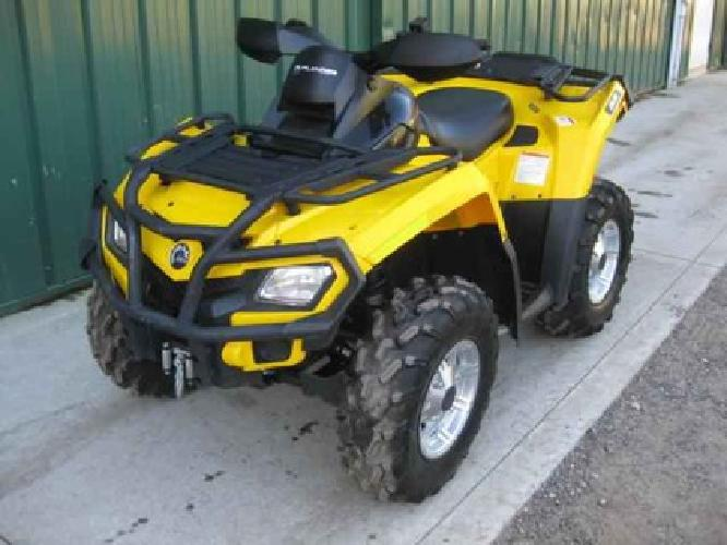 $7,150 2011 CAN AM OUTLANDER 650 XT-P MINT $7,150, YELLOW, 473 mi, Adult Owned
