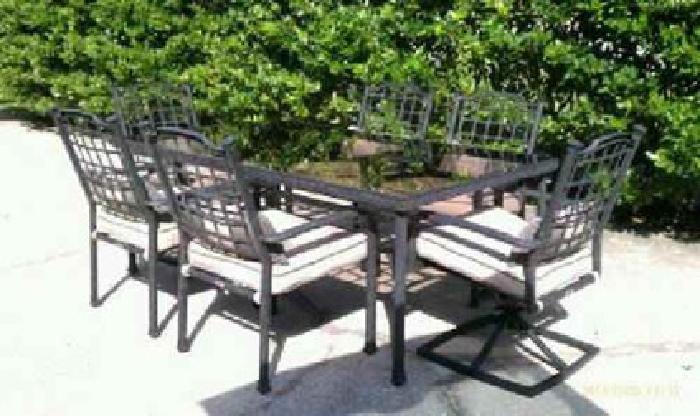 800HAMPTON BAY Deep Seating Style Aluminum Outdoor Patio Furniture Set