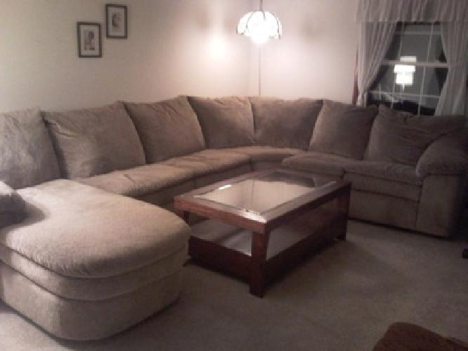 $800 Lane Legacy Reclining Sleeper and Chaise Sectional for sale in Grand Rapids Michigan