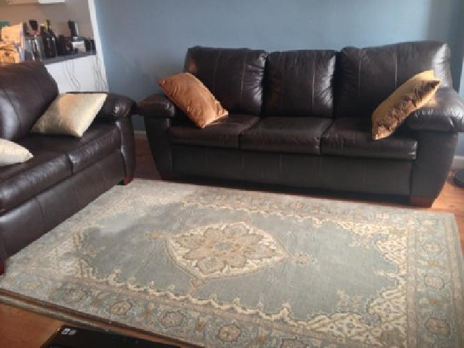 800 obo leather couch sofa and loveseat combo for sale in for Leather sofa and loveseat combo