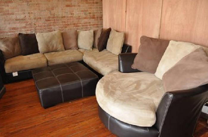 800 rooms to go sectional swivel chair ottoman 4pc for sale in krum texas classified. Black Bedroom Furniture Sets. Home Design Ideas