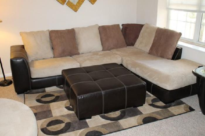 $800 Sofa-Swivel Chair-Ottoman-Rug Set for Sale- 1 Yr Old-Moving ...