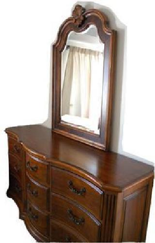 800 Used Ethan Allen Dresser And Mirror For Sale In