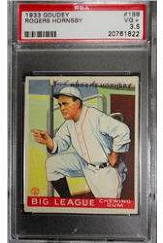 $80 1933 Goudey ROGERS HORNSBY #188