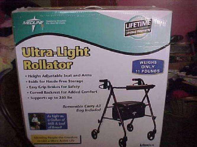 $80 Brand New in Box Rollator Walker w Seat