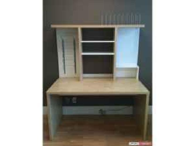 80 Ikea Birch Mikael Desk With Hutch