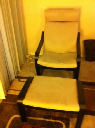 80 obo ikea poang chair with the foot rest for sale in woodland hills california classified - Chairs similar to poang ...