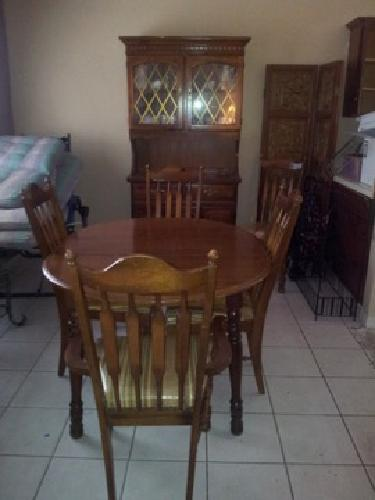 $80 OBO Wooden Table,Chairs, Hutch