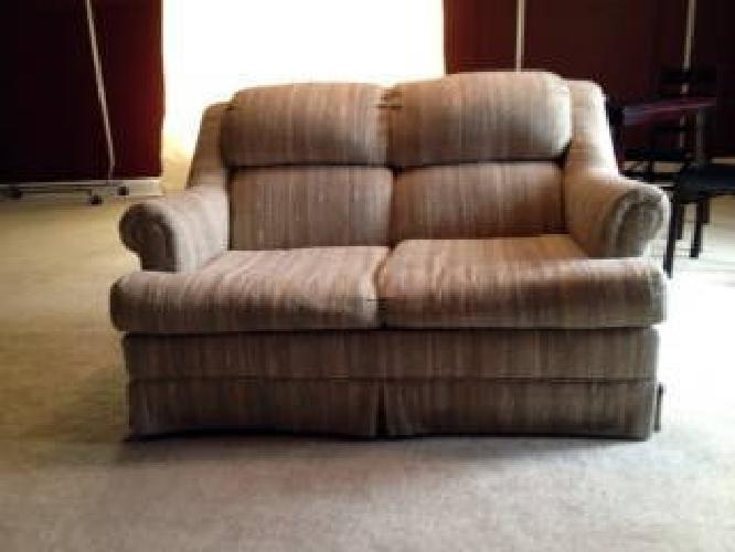 80 Used Claude Gable Co Love Seat In Neutral Fabric For Sale In Huntsville Alabama Classified