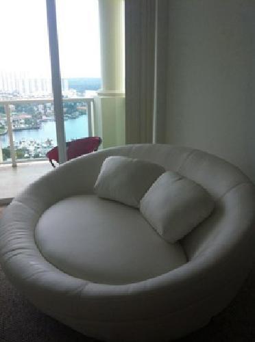 $850 Circular Sofa Loveseat