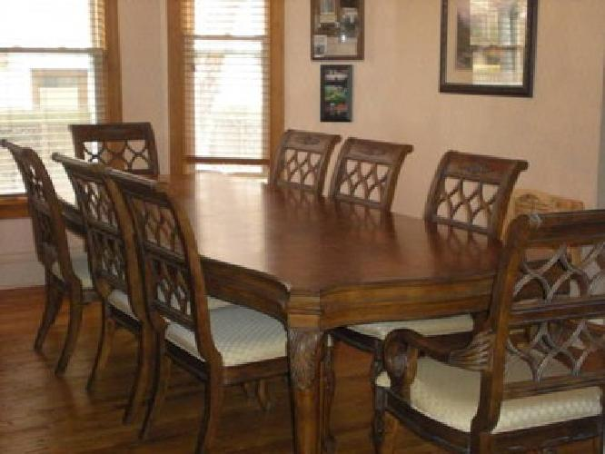 850 drexel heritage dining room table w 8 chairs for sale in