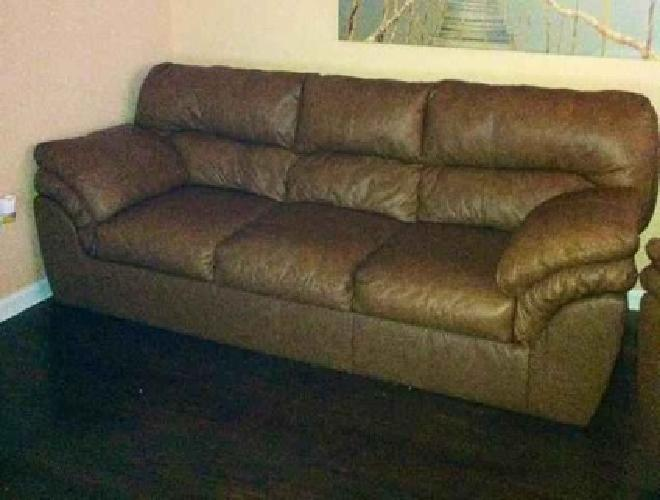 850 Sofa And Recliner Matching Genuine Brown Genuine